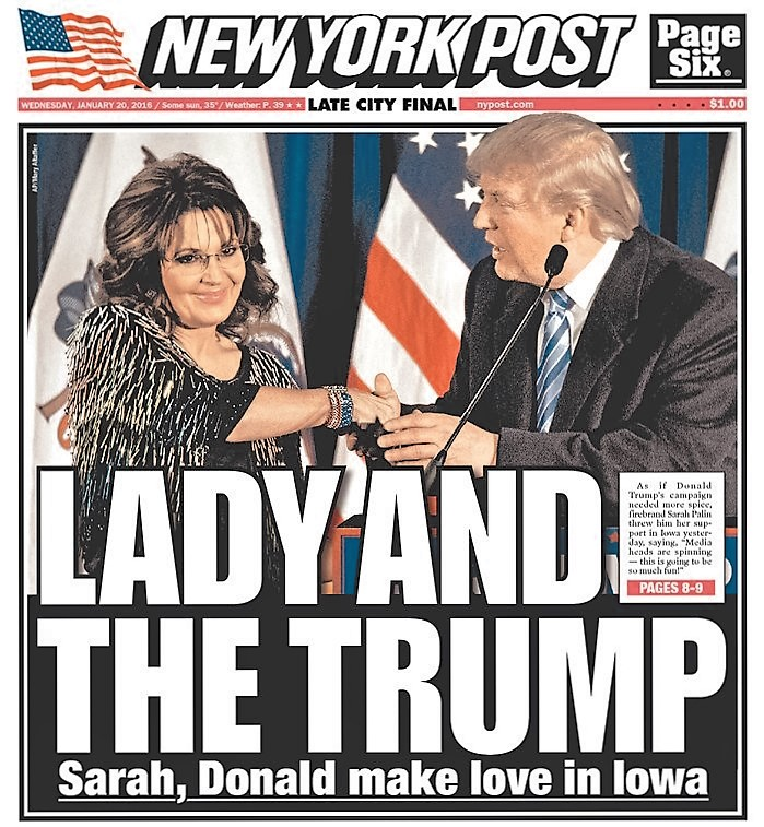 Here's the paper's Wednesday cover: daily news